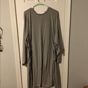 Gray to the knee dress